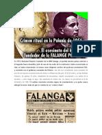 NEKAM ADONAI EL ASESINATO RITUAL DEL FUNDADOR DE LA FALANGE POLACA, EN 1956. UN EPISODIO DESCONOCIDO DE LA POLONIA COMUNISTA