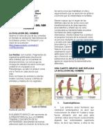 Ciencias sociales sexto LOS ANTEPASADOS DEL HOMBRE