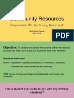 community resources presentation