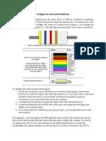 Códigos de color para resistores