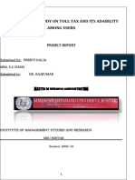 """""""A COMPARITIVE STUDY ON TOLL TAX AND ITS ADABILITY AMONG USERS.docx"""