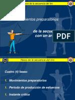 4 MOVIMIENTOS PREPARATORIOS parado, agarre de cuerda y arco