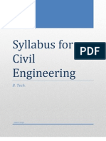 Syllabus for Civil Engineering