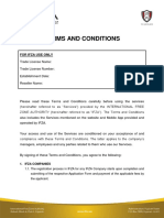 IFZA - Terms & Conditions