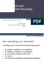 Amendment and Supplemental Pleadings
