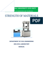200 LEVEL Strength of materials