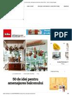 50 de Idei Pentru Amenajarea Balconului _ Adela Pârvu - Interior Design Blogger