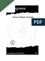 Programa Historia Medieval de España