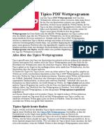 Tipico PDF Wettprogramm