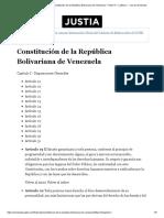 Justia Venezuela __ Constitución de la República Bolivariana de Venezuela _ Título III _ Capítulo I __ Ley de Venezuela.pdf