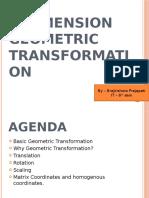 2-Dimension Geometric Transformation