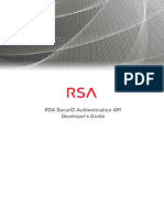 RSASecurID Access RSA SecurID Authentication API Developer's Guide