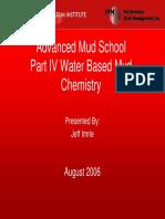 Part IV Water based mud chemistry
