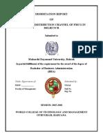 Vikas - STUDY ON DISTRIBUTION CHANNEL (1).doc