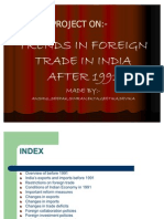 Trends Foeign Trade Since 1991