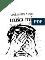 Alejandro Rubio - Música mala