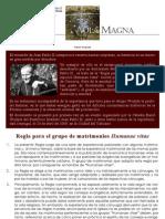 K. Wojtyla Regla para el Grupo de matrimonios Humanae Vitae