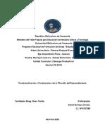 PROFA ROSATONITO TRABAJO Contextualización  Fundamentos de la Filosofía del Emprendimiento