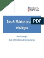 Tema 05 - Matrices de análisis estratégico (2019).pdf