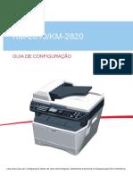 KM-2810_KM-2820 GUIA DE CONFIGURAÇÃO. Leia esta Guia de Configuração antes de usar esta máquina. Mantenha-a próxima à máquina para fácil referência.