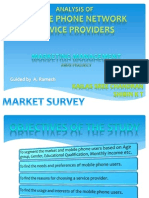 Market Survey MOBILE PHONE NETWORK SERVICE PROVIDERS in India