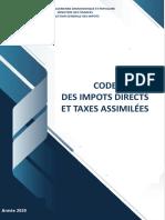 CODE DES IMPOTS DIRECTS ET TAXES ASSIMILÉES 2020