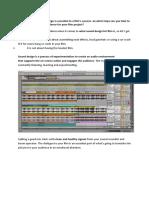 Post-production Sound Design - Matt Hibbard