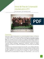 Estudio Preliminar del Área de Conservación Voluntaria de la UTFV