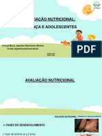 Aula 7 - Avaliação Nutricional da Criança e Adolescentes
