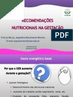 Aula 5 -  Recomendações Nutricionais