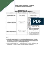 lineamientos Proyecto de grado I y II