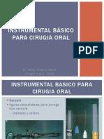 01.- INSTRUMENTAL BASICO PARA CIRUGIA ORAL