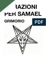 ORAZIONI PER SAMAEL - Grimorio- Libro -