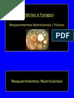 Aula - Exigências Nutricionais de Fungos