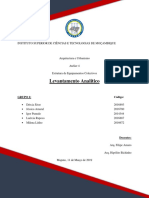Levantamento analitico- GRUPO 2(equipamentos colectivos)