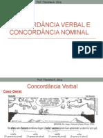CONCORDANCIA NOMINAL E VERBAL