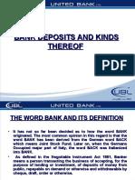 Kind of Deposit in UBL