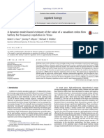 A dynamic model-based estimate of the value of a vanadium redox flow battery for frequency regulation in Texas