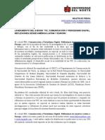 Nota de Prensa de Lanzamiento de E-book
