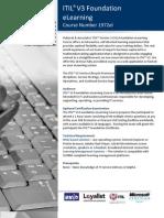Brochure Pultorak ITIL V3 Foundation eLearning