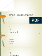 FrenchCb Vocabulaire A1 Description