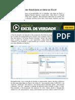 Conhecendo como funcionam as datas no Excel