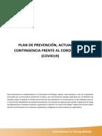 PLAN DE PREVENCIÓN-ACTUACIÓN Y CONTINGENCIA FRENTE CORONAVIRUS
