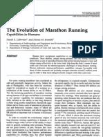 Evolution of Marathon Running