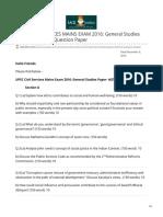 iasbaba.com-UPSC CIVIL SERVICES MAINS EXAM 2016 General Studies Paper- 4ETHICS Question Paper