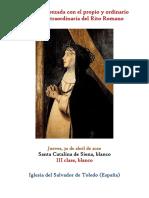 30 de Abril de 2020. Santa Catalina de Siena. Propio y Ordinario de la misa