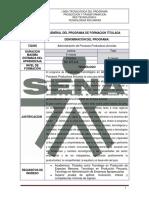 EG. ADMINISTRACION DE PROCESOS PRODUCTIVOS AVICOLAS cod.722205