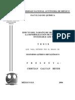 1.- EFECTO DEL TAMAÑO DE GRANO