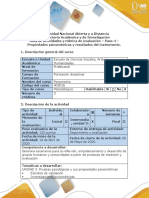 Guía de actividades y rúbrica de evaluación - Paso 4 - Propiedades psicometricas y resultados del instrumento (1)