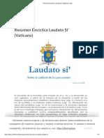 Resumen Encíclica Laudato Si' (Vaticano) _ CEE